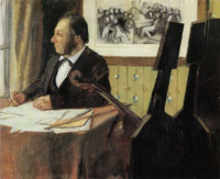 Edgar Degas Louis-Marie Pilet, Violoncellist in the Orchestra of the Opéra