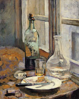 Edouard Vuillard Carafe, Bottle and Glass