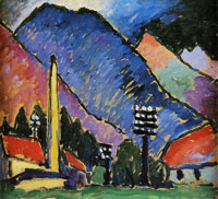 Alexej von Jawlensky - Factory in the mountains