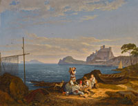 Ludwig Richter The Bay of Naples, Capri beyond