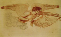 Ford Madox Brown Angel blowing a trumpet