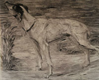 Franz Marc Dog with Raised Head