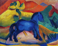 Franz Marc Little Blue Horse, Picture for a Child