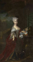 Antoine Pesne Portrait of a girl, probably Empress Maria Theresa of Austria