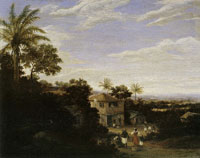 Frans Post River Landscape with Plantation House