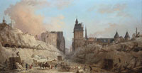 Hubert Robert The Demolition of Houses on the Pont au Change