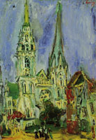 Chaim Soutine Chartres Cathedral