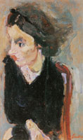 Chaim Soutine - Woman in Profile (Portrait of Madame Tennent)