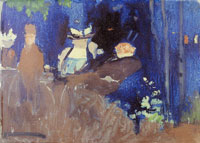 Edouard Vuillard In the Garden at Night