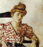 Edouard Vuillard Misia in a Red Print Blouse
