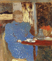 Edouard Vuillard Old Woman Seated at a Table