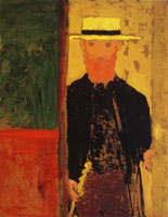 Edouard Vuillard - Self-Portrait with Walking-Stick and Boater