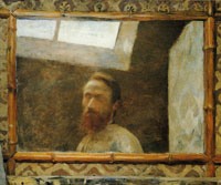 Edouard Vuillard Self-Portrait in a Mirror with a Bamboo Frame