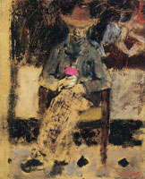Edouard Vuillard Vallotton with a Rose
