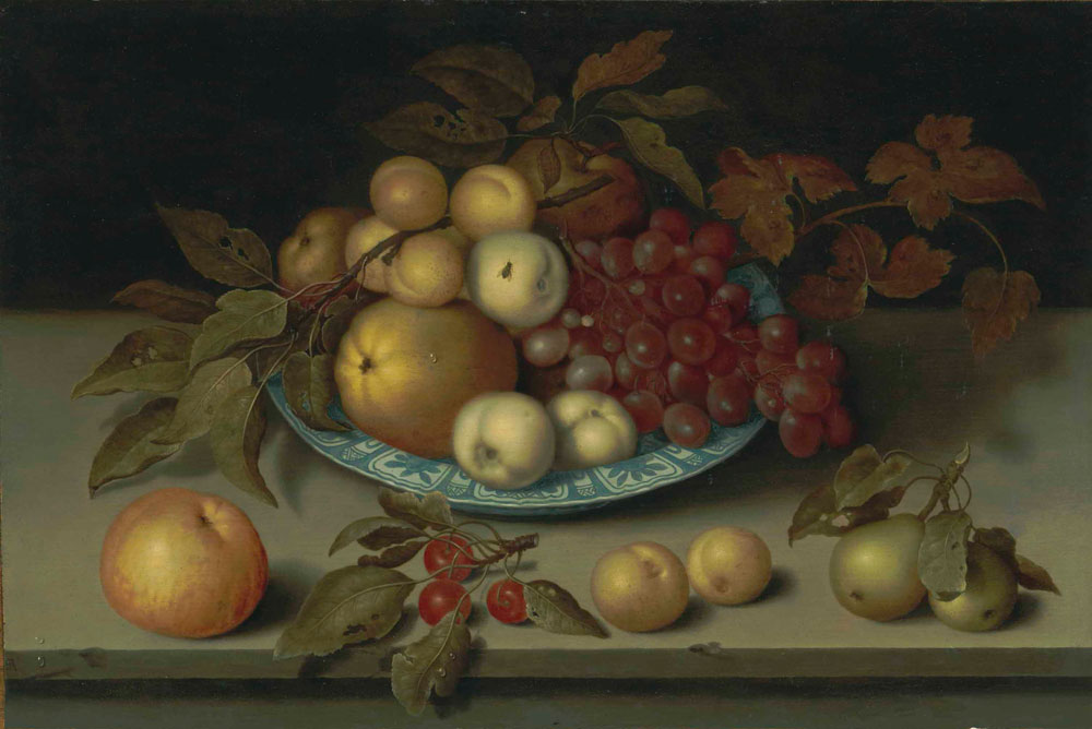 Ambrosius Bosschaert the Elder - Peaches, apples, apricots and grapes