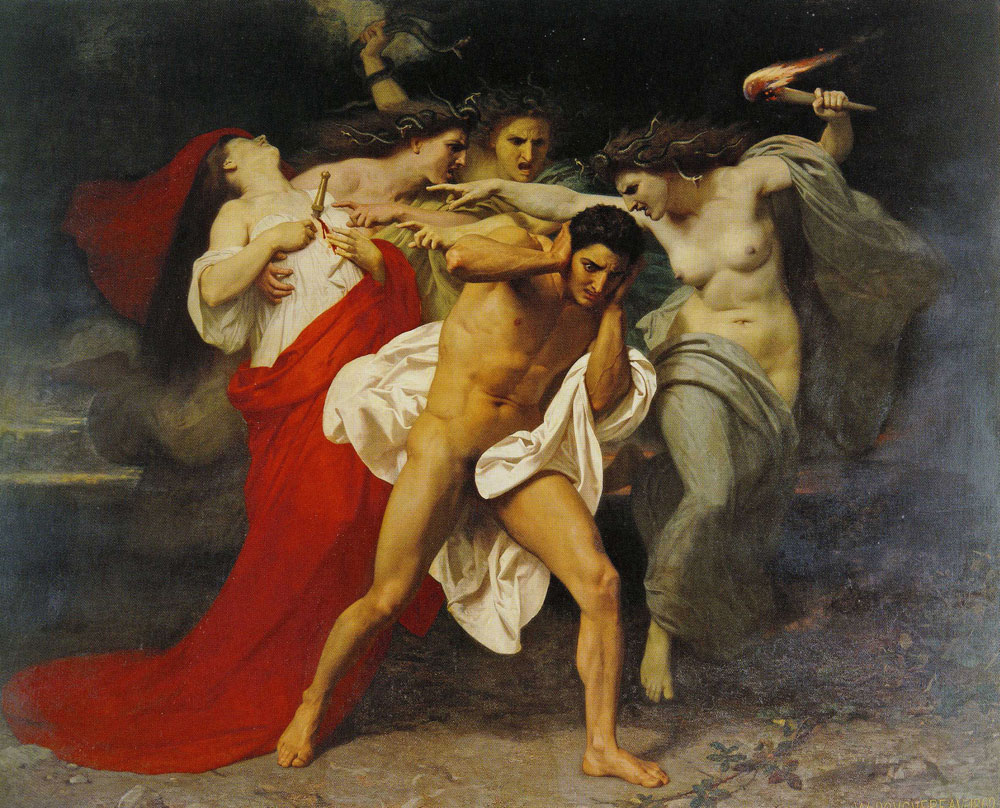 William-Adolphe Bouguereau - The Remorse of Orestes