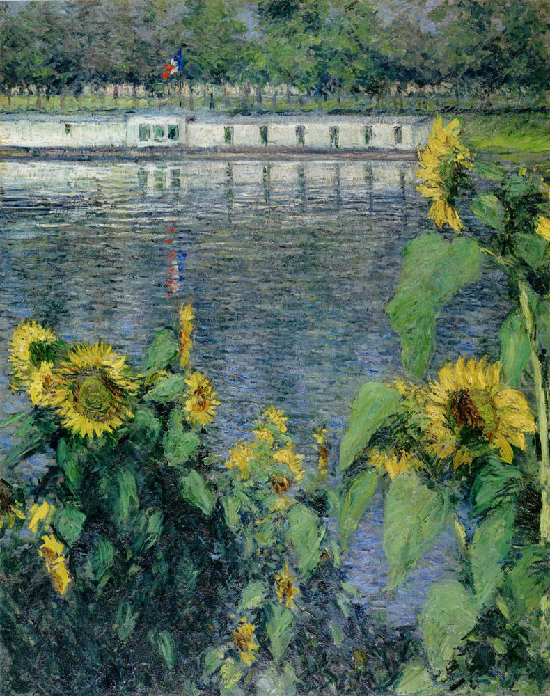 Gustave Caillebotte - Sunflowers along the Seine