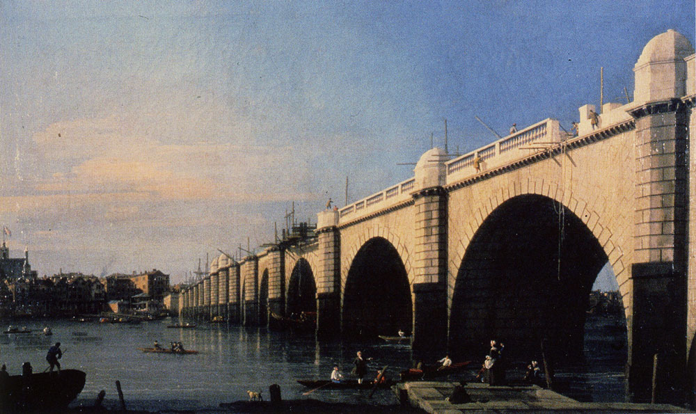 Canaletto - Westminster Bridge under Construction, from the Southeast