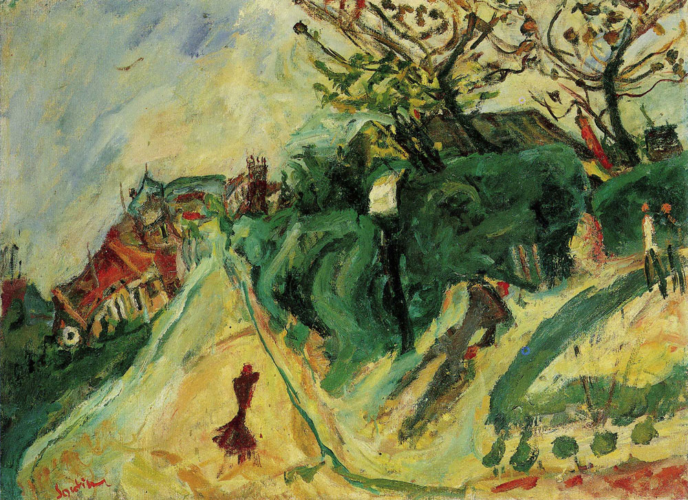 Chaim Soutine - Landscape with Figure