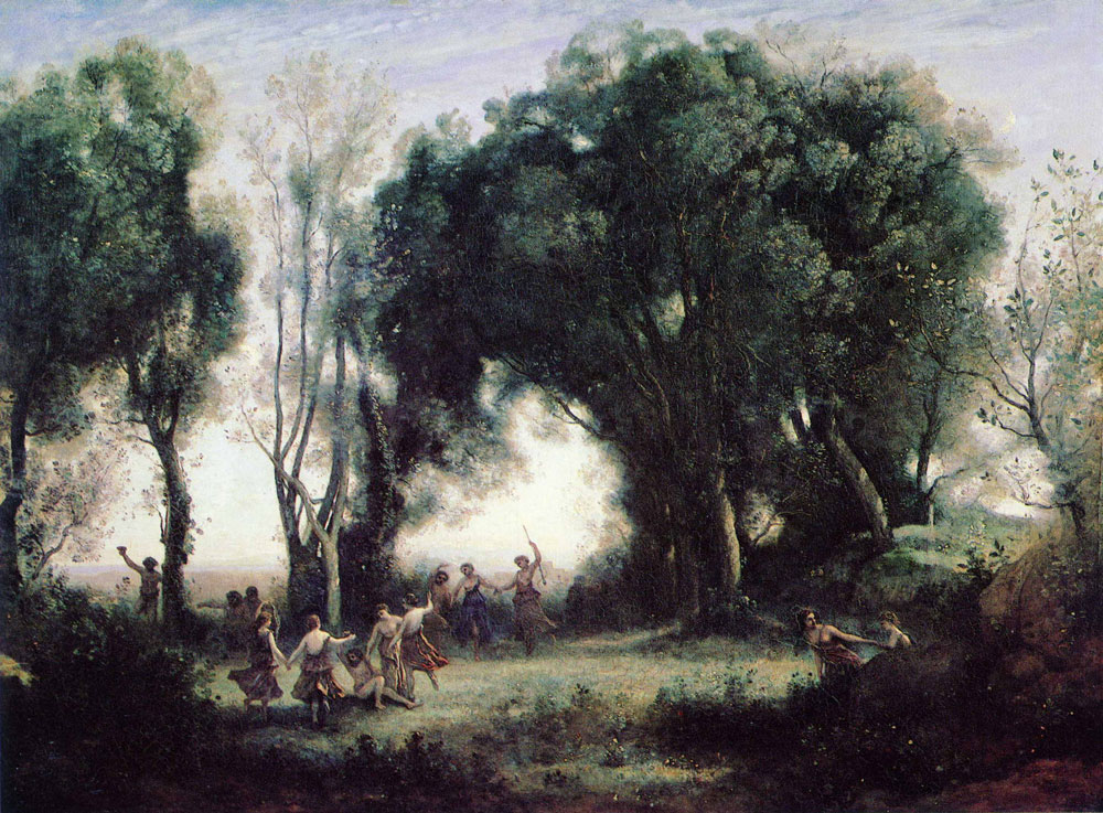 Camille Corot - A Morning; Dance of the Nymphs