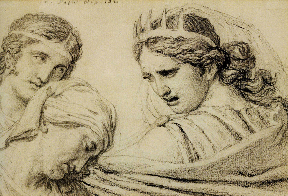 Jacques-Louis David - Composition with Three Figures