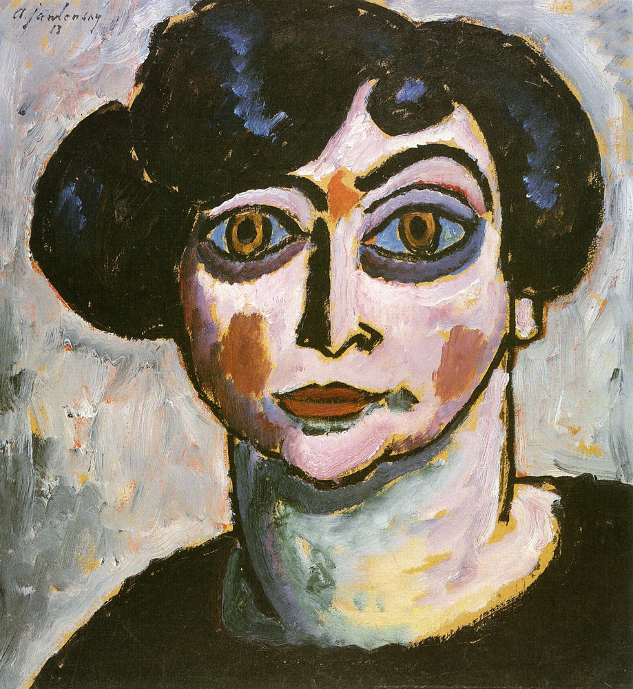 Alexej von Jawlensky - Woman with black hair