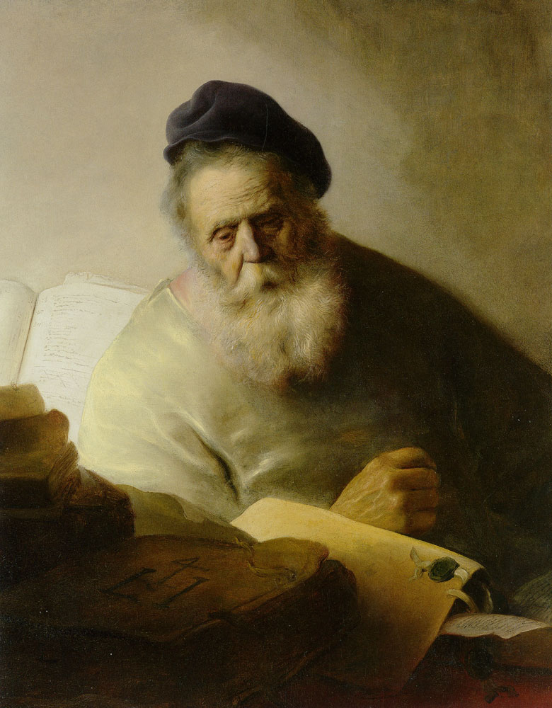 Jan Lievens - Old Scholar between Books