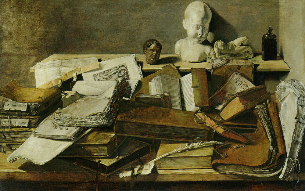 Jan Lievens - Still Life with Books