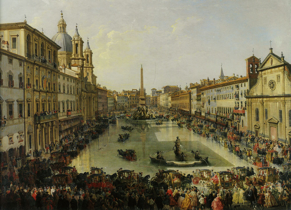 Giovanni Paolo Panini - The Flooding of the Piazza Navona