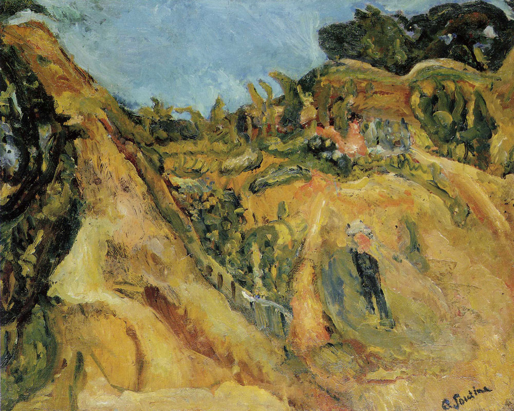 Chaim Soutine - Landscape of Southern France