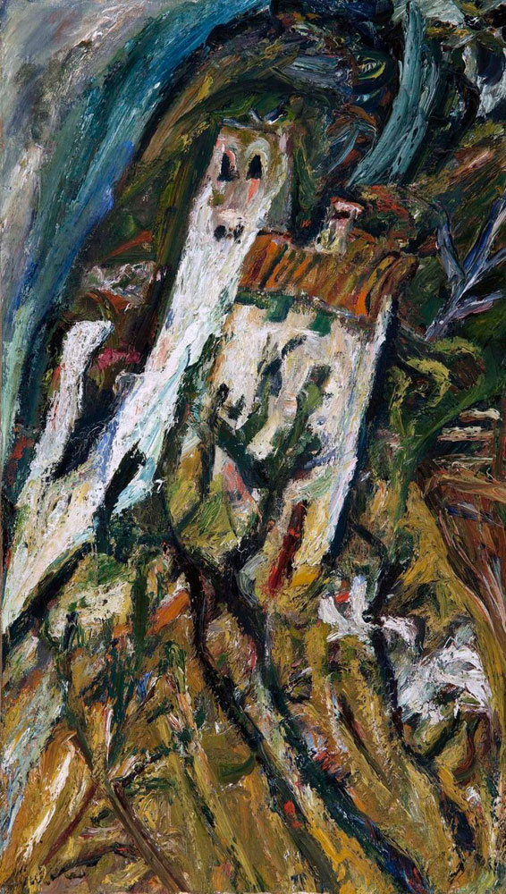 Chaim Soutine - Landscape with White Building
