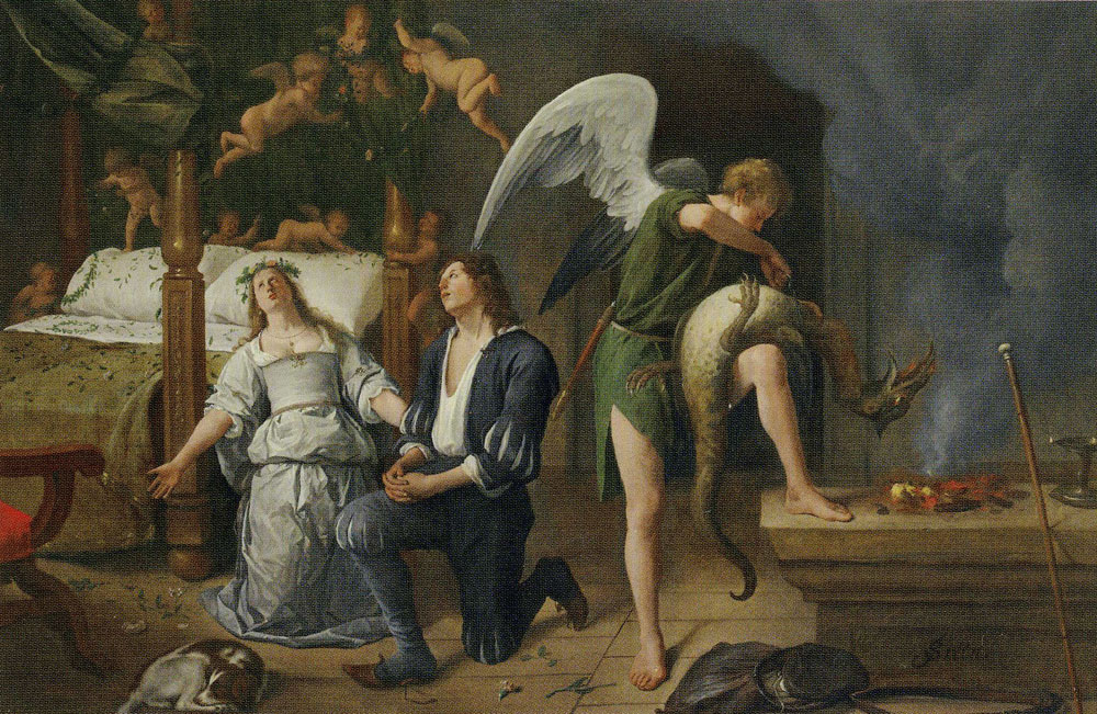 Jan Steen - The Wedding-night of Tobias and Sarah