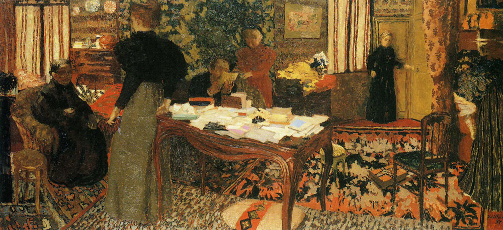 Edouard Vuillard - Large Interior with Six Figures