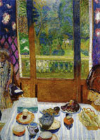 Pierre Bonnard Dining Room Overlooking the Garden (The Breakfast Room)