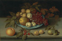 Ambrosius Bosschaert the Elder Peaches, apples, apricots and grapes