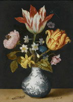 Ambrosius Bosschaert the Elder Still Life of Flowers in a Wan-li Vase