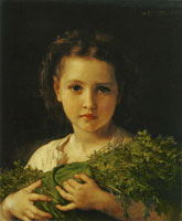 William-Adolphe Bouguereau - Child with a Bundle of Lucerne