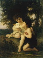 William-Adolphe Bouguereau - Children with a Lamb