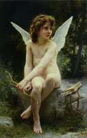William-Adolphe Bouguereau - Cupid on the Lookout