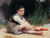 William-Adolphe Bouguereau - The Edge of the River