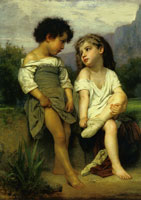 William-Adolphe Bouguereau The Edge of the River