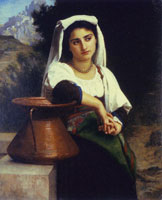 William-Adolphe Bouguereau - The Italian Girl at the Fountain