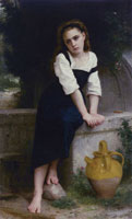 William-Adolphe Bouguereau - Orphan Girl at the Fountain