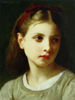 William-Adolphe Bouguereau - Portrait of a Little Girl