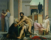 William-Adolphe Bouguereau Ulysses recognized by his Nurse Eurycleia on his Return from Troy