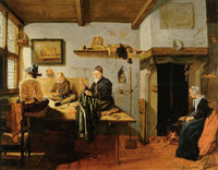 Quiringh van Brekelenkam  - Interior of a Tailor's Workshop