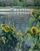 Gustave Caillebotte Sunflowers along the Seine