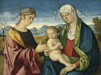 Vincenzo Catena The Madonna and Child with a Female Saint