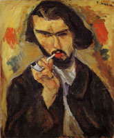 Chaim Soutine Man with a Pipe (Portrait of Chauveau)