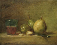 Jean-Siméon Chardin Pears and a Cup of Wine
